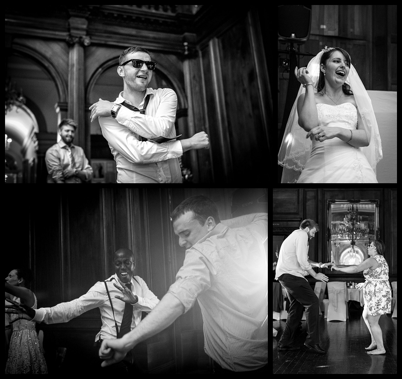 Wedding guest going for it on the dance floor at Addington Palace.jpg