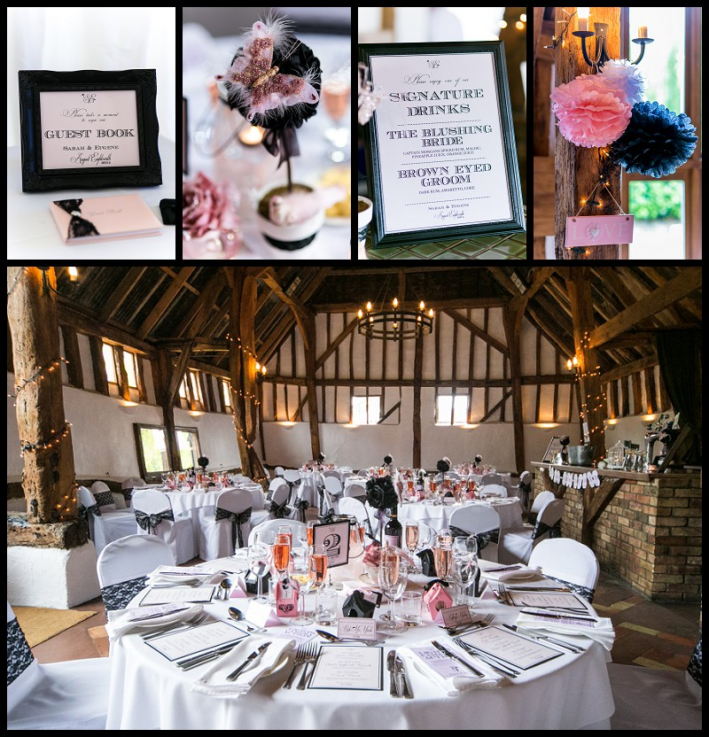 smeetham hall barn wedding 1940's table details