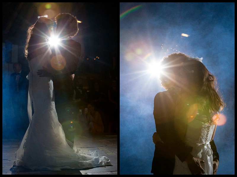 Romantic first dance at Smeetham Hall barn wedding