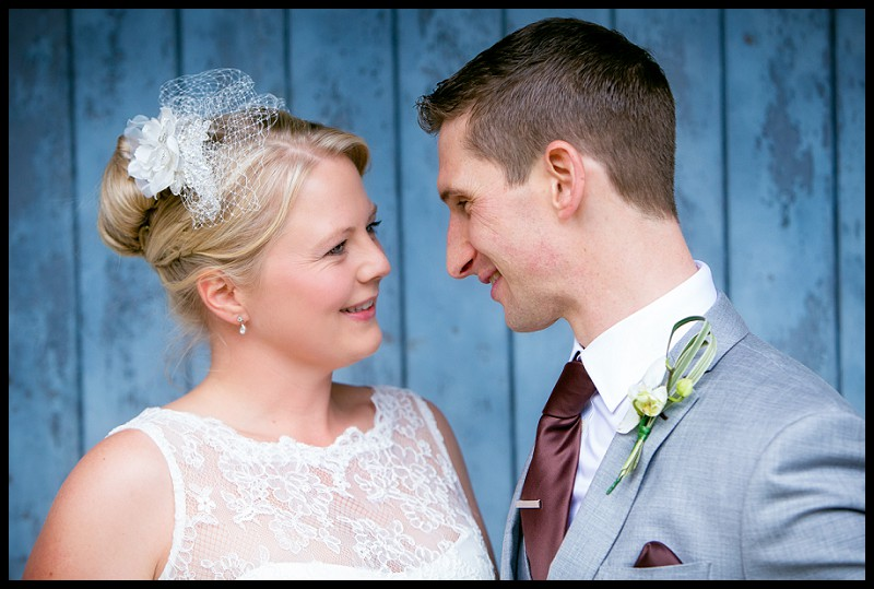 Bride and groom at the granary estates