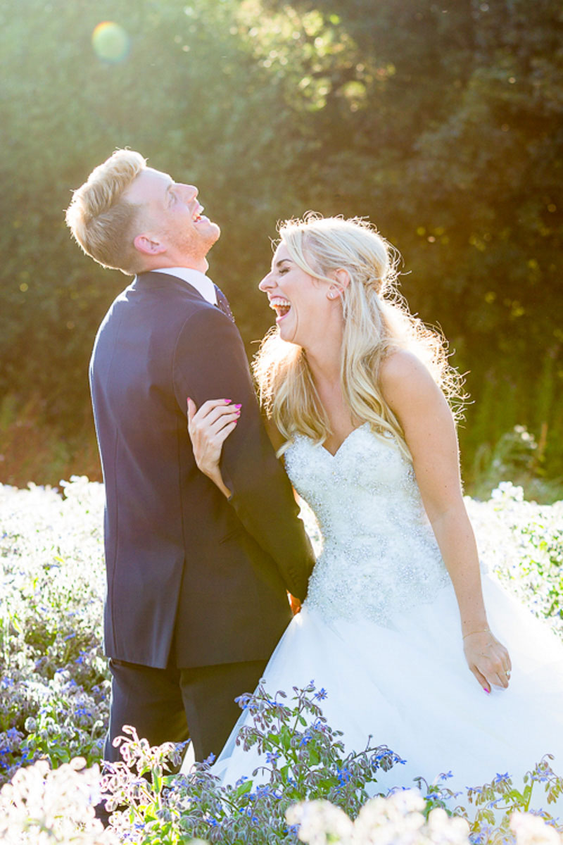laughing bride and Groom on Wedding Photography Gallery