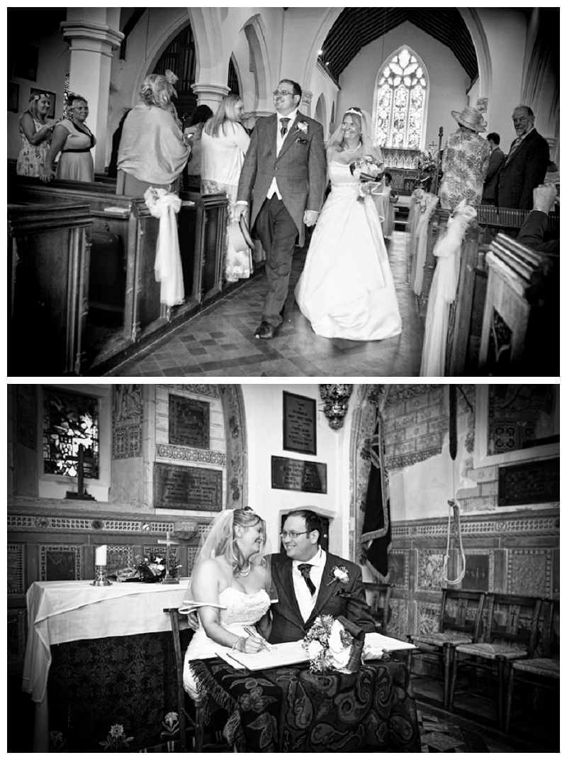 Church wedding in Godstone