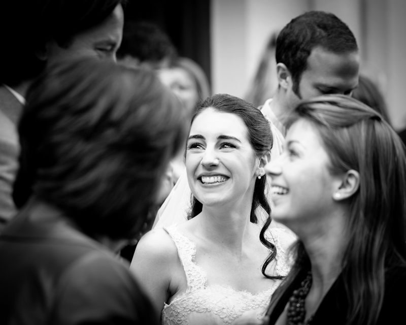 reportage style black and white wedding photography