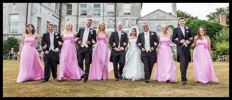 Bridal party walkingin a line.jpg