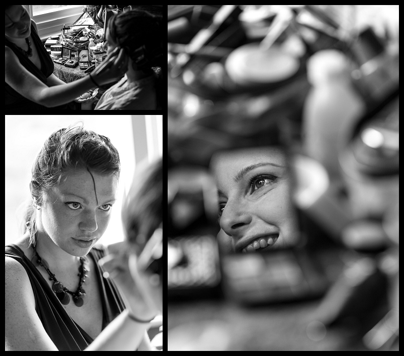 Make-up artist applying makeup to a bride.jpg