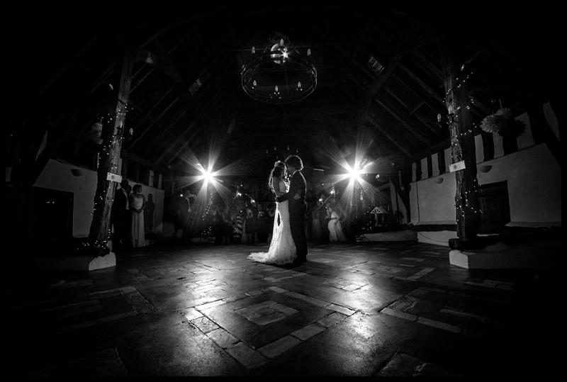 Romantic first dance at Smeetham Hall barn wedding