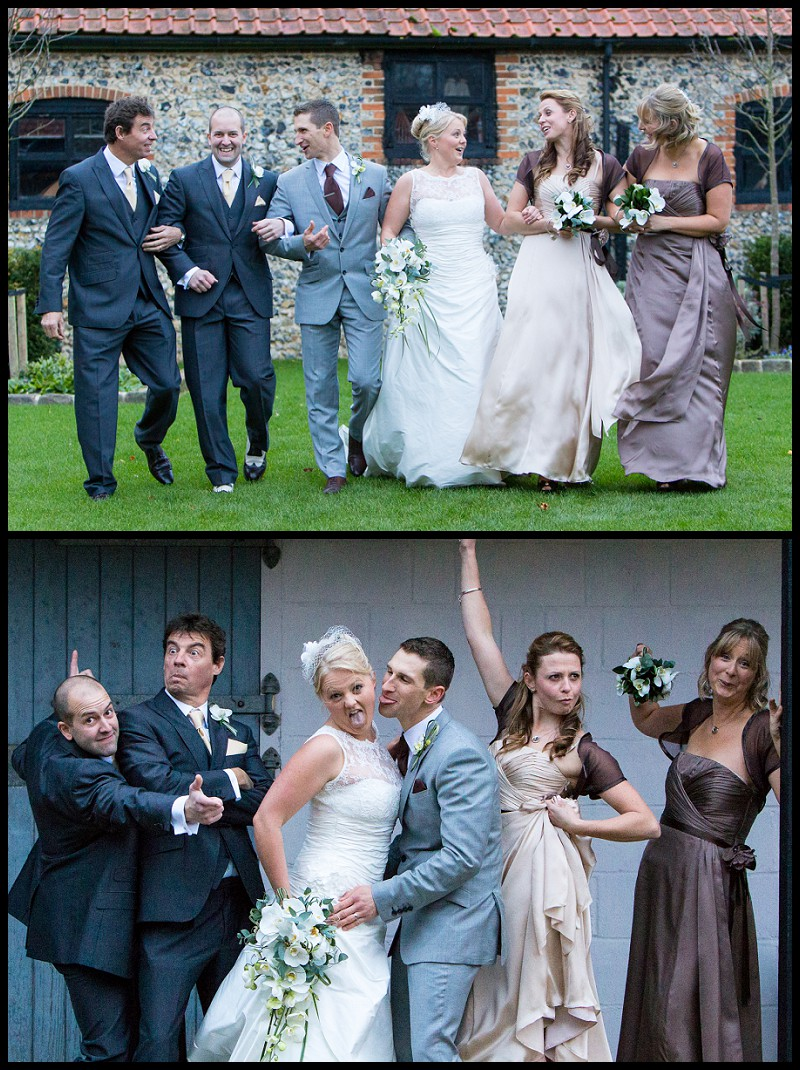 fun bridal party photos at the granary estates
