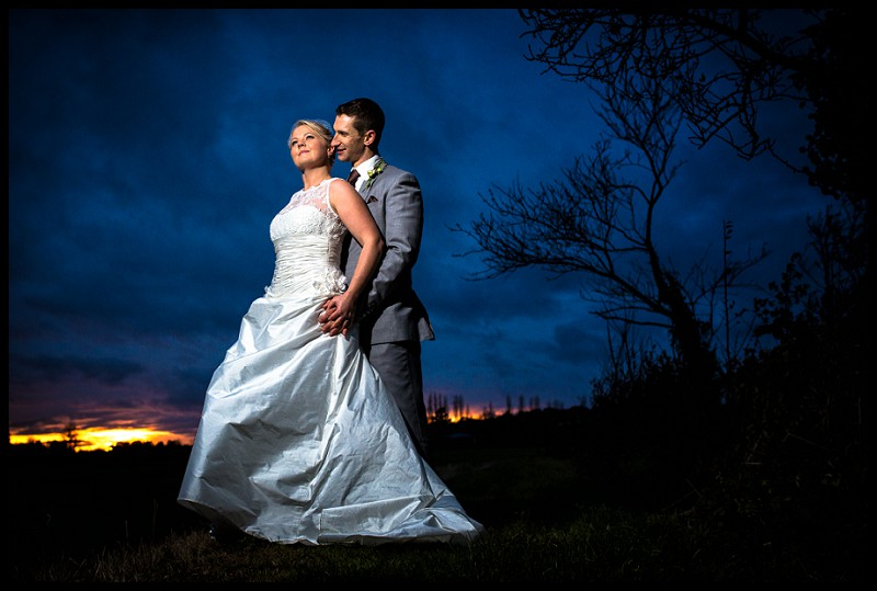 romantic wedding photography of bride and groom at the granary estates