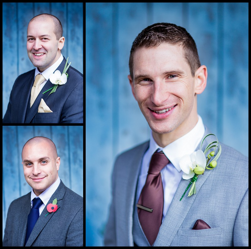 portraits of groom and groomsmen. At the Granary Barns