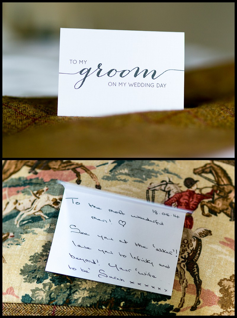 Brides message to groom