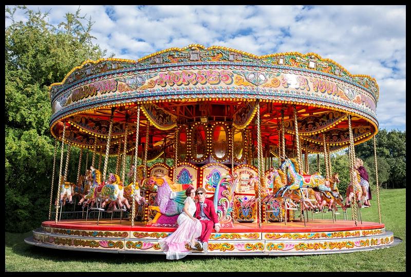 fairground wedding carousel