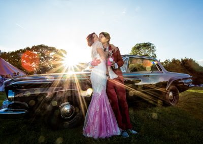 Carnival Themed Wedding Dodge Vintage wedding car-1