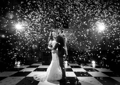 First Dance Confetti Granary Estates Wedding