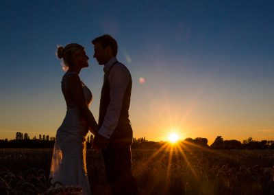 Granary Estates wedding sunset