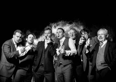 Groomsmen with Cigars wedding