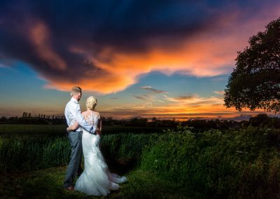 Romantic couple at Granary Barns Wedding