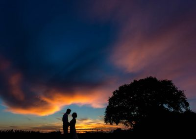 Stunning Sunset at Granary Barns Wedding