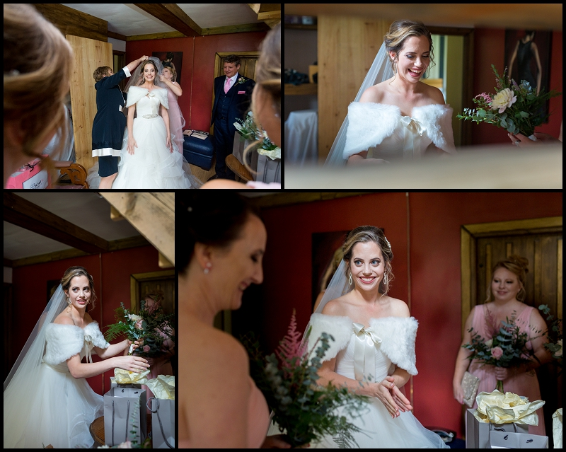 Natural photo of bride smiling