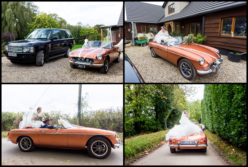 wedding car orange MGB