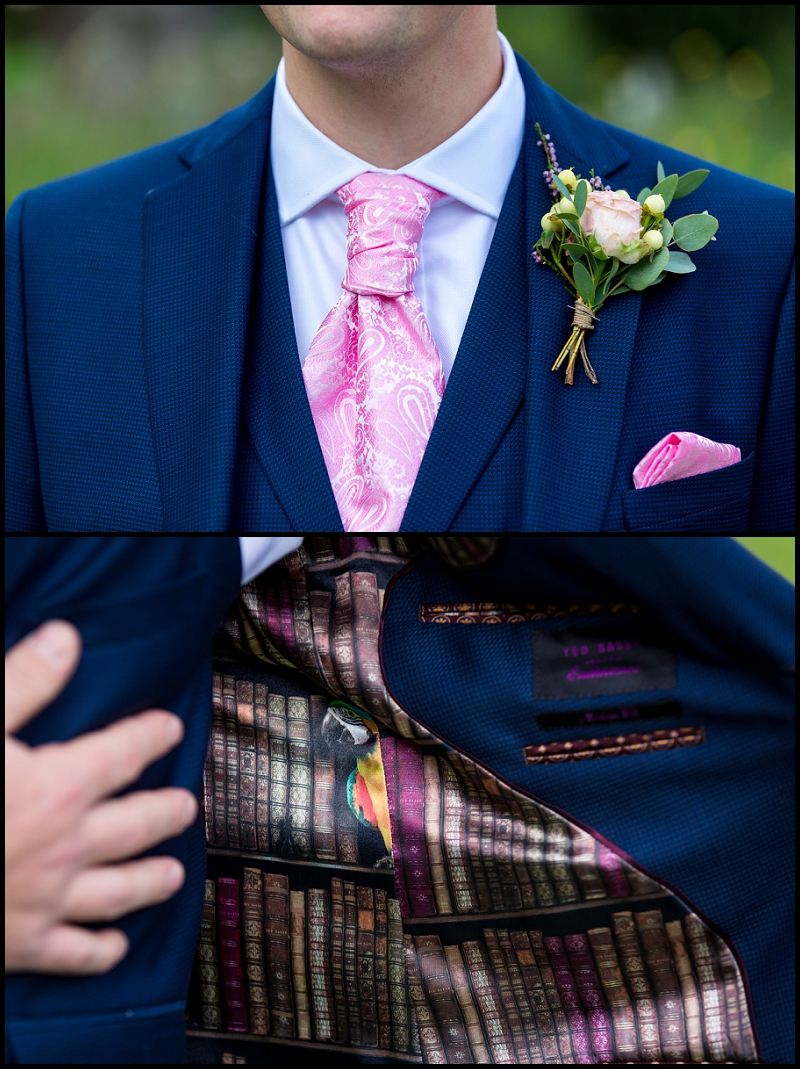 close up groom details