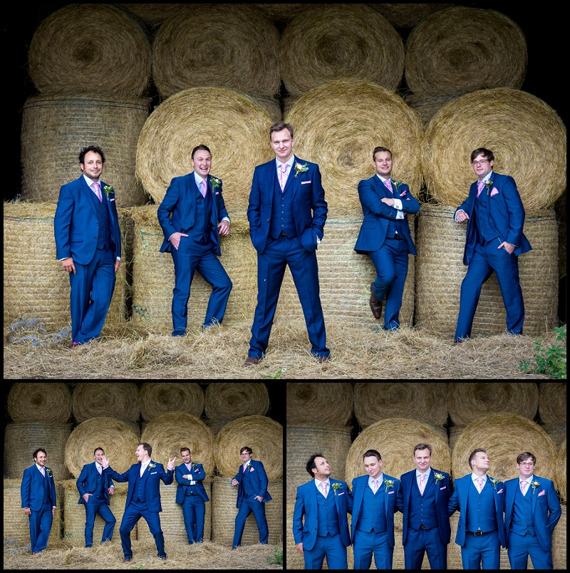 Groomsmen in Norfolk Barn