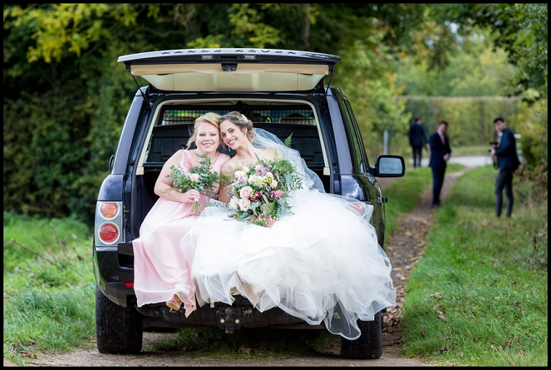 bride on range rover