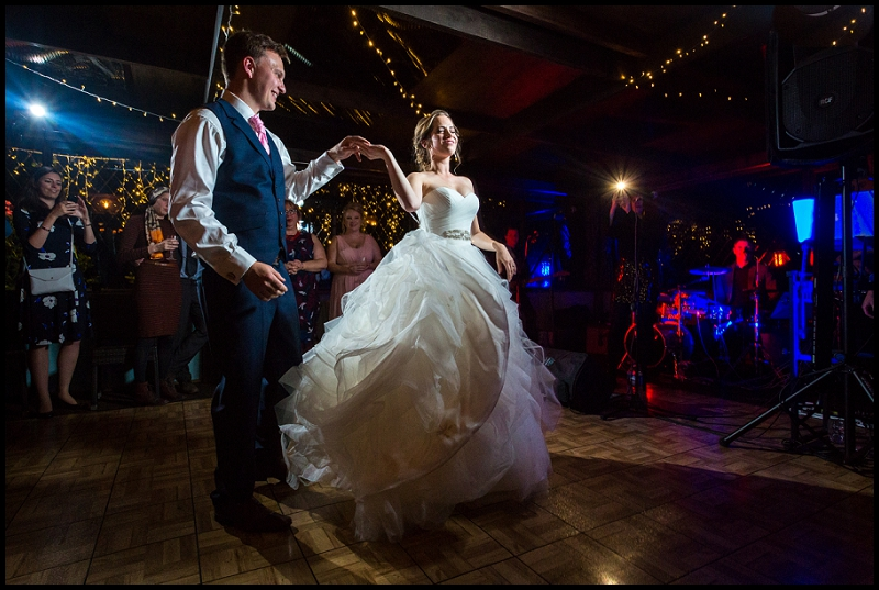 first dance at pub wedding