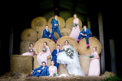 Bridal Party by Cambridge Wedding Photographer - Peter Denness