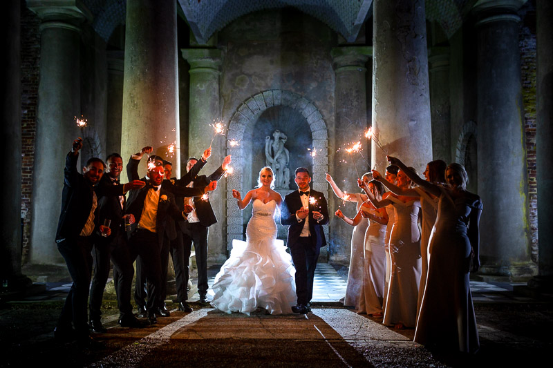 wedding photo of sparklers
