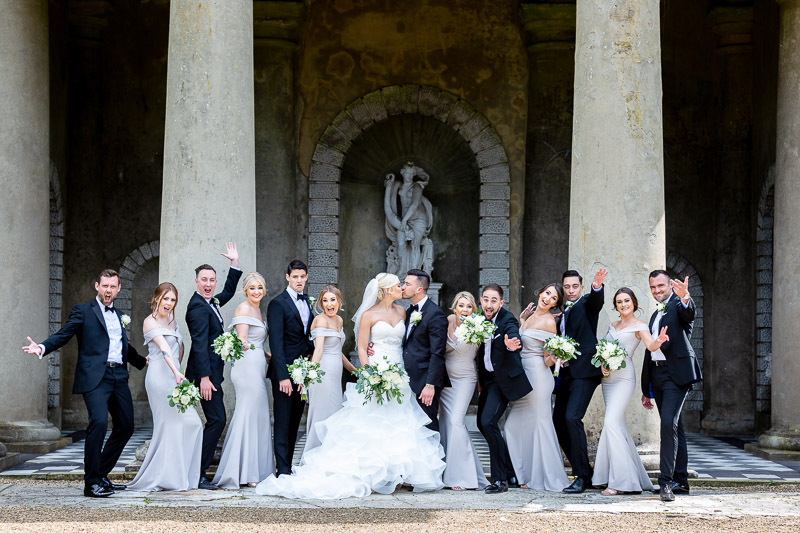Fun wedding photo of Bridal Party at De Vere Wotton House wedding